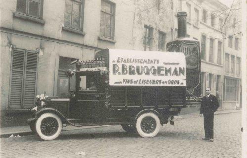 Algist Bruggeman geschiedenis bestelwagen met fles
